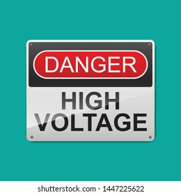 Danger high voltage sign vector illustration.