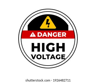 Danger Hight Voltage Signs with Warning Message for Industrial Areas, Easy To Use And Print Design Templates