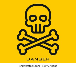 Danger icon signs