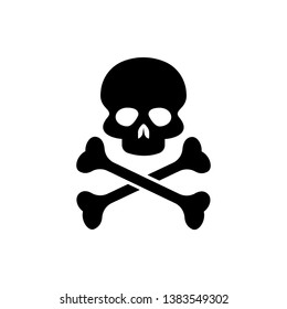 Danger Icon. Skull, Toxic or Poison Illustration As A Simple Vector Sign & Trendy Symbol for Design and Websites, Presentation or Mobile Application.