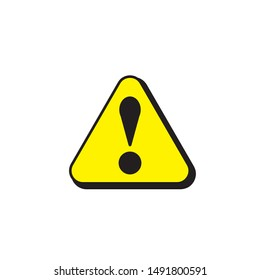 danger icon vector illustration isolated on white background,