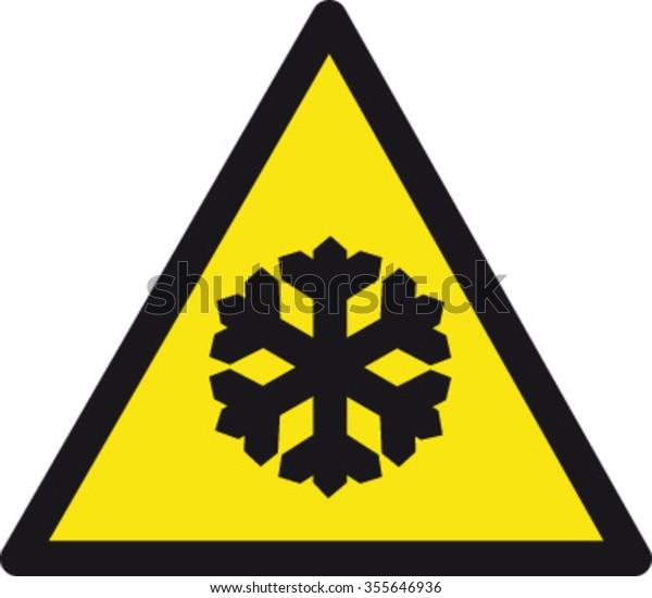 Danger Low Temperatures Sign