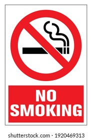 Danger! No smoking cigarette sign. EPS 10 vector illustration. CMYK redy to print.