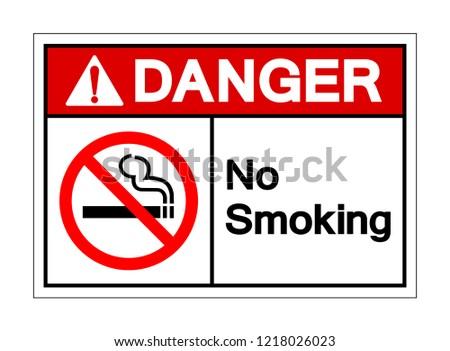 Danger No Smoking Symbol Sign Vector Stock Vector Royalty Free