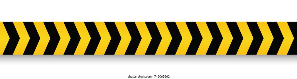 Danger and police line. Yellow Warning Tape. Vector illustration.