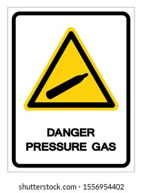 Danger Pressure Gas Symbol Sign, Vector Illustration, Isolate On White Background Label. EPS10