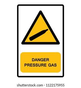 Danger Pressure Gas Symbol Sign,Vector Illustration, Isolate On White Background Icon. EPS10