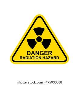 Danger Radiation Hazard Sign.Vector