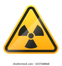 Danger radioactive sign isolated on white background. Vector illustration
