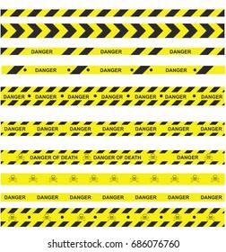 Danger Ribbons Set - death's-head vector