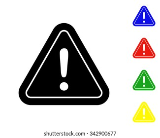 danger sign icon - vector colored set