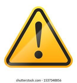 Danger sign isolated on white background. Vector illustration.