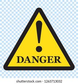Danger sign, Danger triangle icon