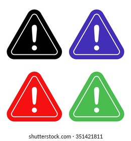 danger sign vector icon - colored set