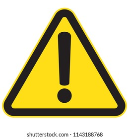 Danger sign, warning sign, attention sign, hazard sign, vector illustration
