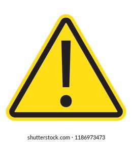 Danger sign, warning sign, attention sign, hazard sign, vector illustration