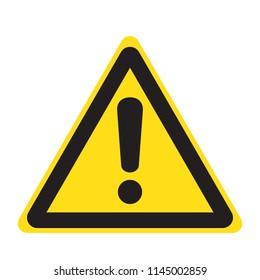 Danger sign, warning sign, attention sign. Danger warning attention icon.