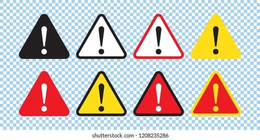 Danger sign, warning sign, attention sign. Danger icon, warning icon, attention icon.