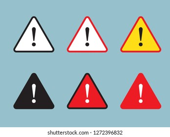 Danger sign, warning sign, attention sign. Danger warning attention icon.