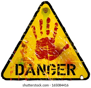 danger sign, warning / prohibition sign, vector