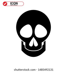 Danger skull icon isolated sign symbol vector illustration - high quality black style vector icons