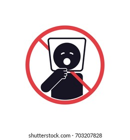Danger of suffocation do not gives bags at toy to babies, do not put bag on head sign