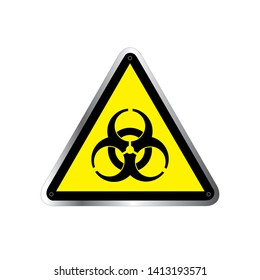 Danger vector sign. Biological risk symbol, International bio hazard warning sign, biohazard warning symbol , vector illustration. Biohazard symbol sign of biological threat alert.