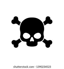Danger vector sign illustration isolated on white background