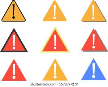 Danger / Warning 9 icons set.