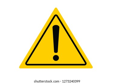 Danger warning sign, attention sign. Vector illustration. on white background