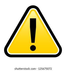 Danger warning sign.  render exclamation mark.  Illustration on white background for design