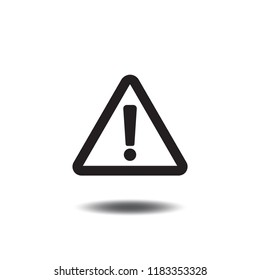 Danger or Warning sign symbol vector flat icon. Attention caution illustration isolated on white background.
