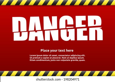 Danger warning sign template for your text with alert color