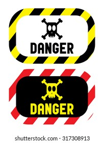 danger warning sign vector illustration
