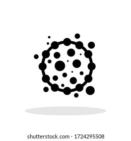 Dangerous bacteria icon in flat style. Virus symbol for your web site design, logo, app, UI Vector EPS 10.