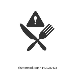 dangerous food icon simple vector illustration