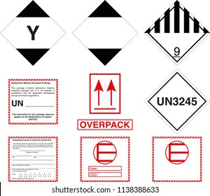 Dangerous Goods Shipping Labels