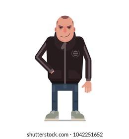 Dangerous guy in sport jacket