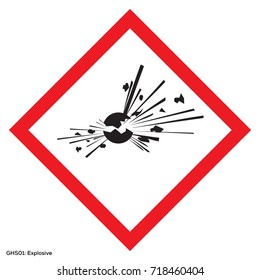 Dangerous icon of hazardous warning sign. Official warning sign of Global healthy sign of explosive