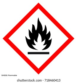 Dangerous icon of hazardous warning sign. Official warning sign of Global healthy sign of flammable