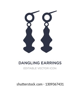 dangling earrings icon on white background. Simple element illustration from Fashion concept. dangling earrings icon symbol design.