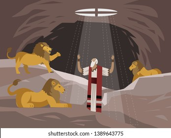 daniel in the lions den pit saved by god old testament tale