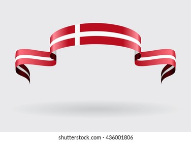 Danish flag background. Vector illustration.