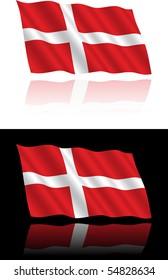 Danish Flag Flowing