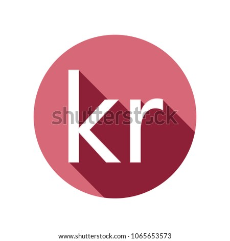 Danish Krone Currency Symbol Icon Stock Vector Royalty Free