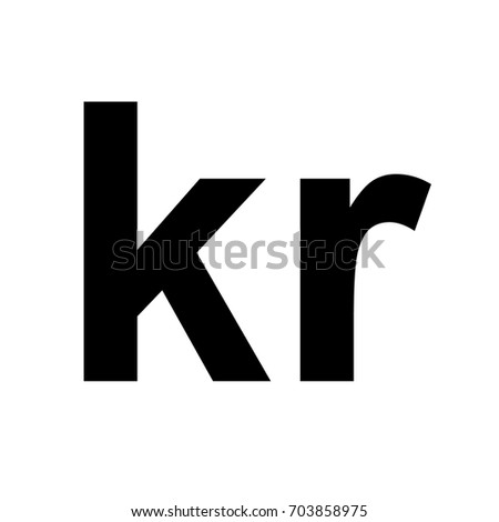 Danish Krone Sign Icon Money Symbol Stock Vector Royalty Free