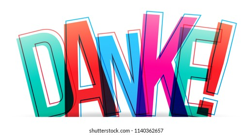 Danke colorful word vector design
