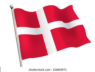 Dannebrog - Denmark civil and state flag