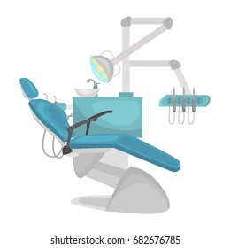 Dantist office chair color flat icon for web and movile design