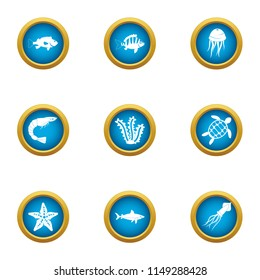 Dap icons set. Flat set of 9 dap vector icons for web isolated on white background